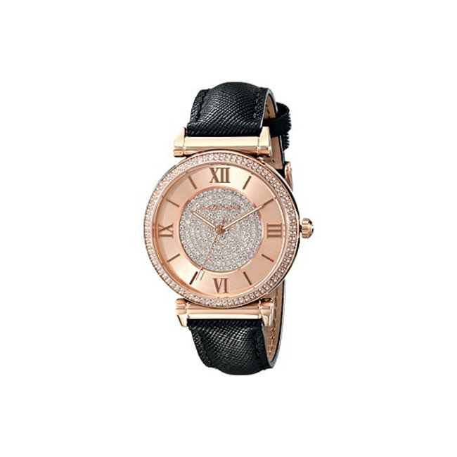 Michael Kors MK2376 Horlogeband Zwart Leer