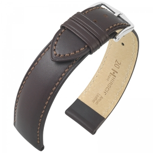 Hirsch Kent Artisan Horlogebandje Italiaans Kalfsleer Bruin