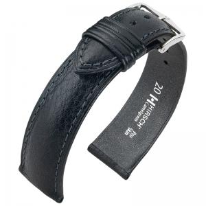 Hirsch Camelgrain Horlogebandje Pro Skin Antiallergisch Zwart