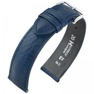 Hirsch Camelgrain Horlogebandje Pro Skin Antiallergisch Blauw