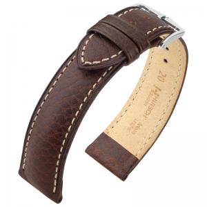 Hirsch Boston Horlogebandje Buffelkalf Bruin
