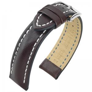 Hirsch Heavy Calf Horlogebandje 100M Water Resistant Donkerbruin