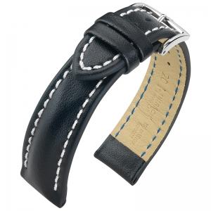 Hirsch Heavy Calf Horlogebandje 100M Water Resistant Zwart