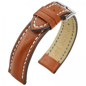 Hirsch Heavy Calf Horlogebandje 100M Water Resistant Goudbruin