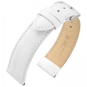 Hirsch Kansas Horlogebandje Buffelgrain Wit