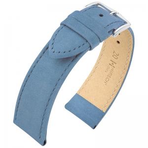 Hirsch Osiris Nubuck Horlogebandje Kalfsleer Blue - Limited Edition