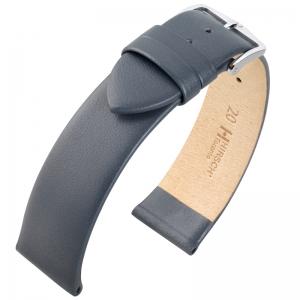 Hirsch Toronto Italiaans Kalfsleer Horlogebandje Grijs