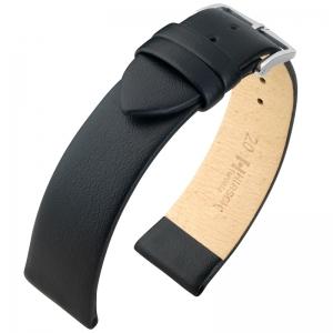 Hirsch Toronto Italiaans Kalfsleer Horlogebandje Zwart