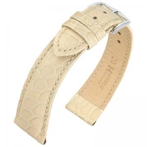 Hirsch Aristocrat Horlogebandje Crocograin Beige