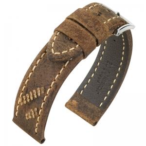 Hirsch Lynyrd Horlogeband Koedoe Antilope Leer Mat Bruin