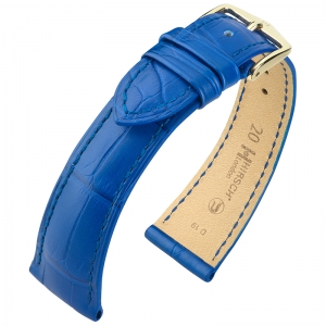Hirsch London Louisiana Alligator Horlogebandje Mat Koningsblauw