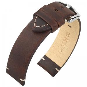 Hirsch Ranger Horlogebandje Kalfsleer Donkerbruin