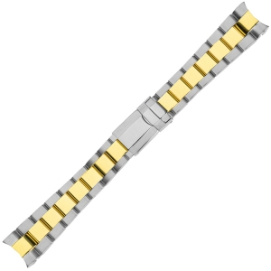 Oyster Horlogeband 'type Rolex' Bicolor Roestvrij Staal 20mm