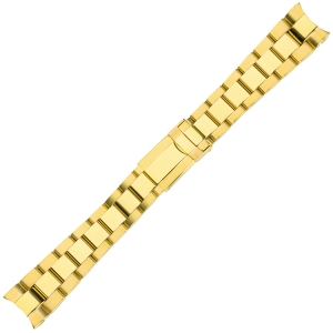 Oyster Horlogeband 'type Rolex' Goud Roestvrij Staal 20mm