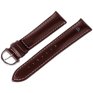 Maurice Lacroix Horlogeband Buffelkalf Bruin met Wit Stiksel 15, 19 en 20 mm
