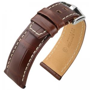 Hirsch Tritone Horlogeband Louisiana Alligator Leer Semi-Mat Bruin