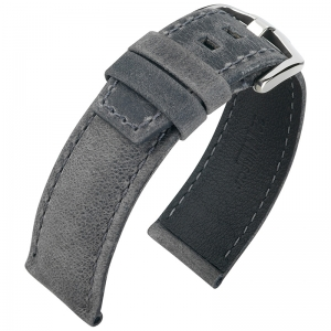 Hirsch Tritone Kudu Horlogeband voor Panerai Koedoe Antilope Leer Mat Grijs