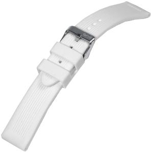 Silicone Horlogebandje Grooves Wit