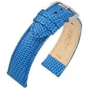 Hirsch Rainbow Horlogebandje Lizardgrain Lichtblauw