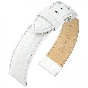 Hirsch Crocograin Horlogebandje Wit