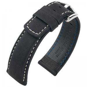Hirsch Mariner Horlogeband 100m Waterdicht Zwart