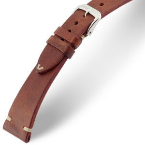 Rios Bedford Horlogebandje Vintage Leer Mahonie