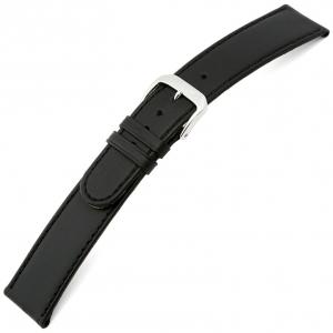 Rios Ecco Horlogebandje Rundsleer Zwart