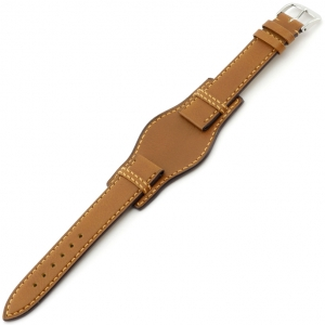 Rios Tula Bund Horlogeband Juchtleer Honing
