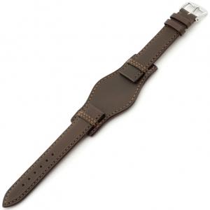 Rios Tula Bund Horlogeband Juchtleer Bruin