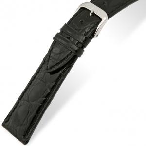 Rios Lord Horlogebandje Krokodillenleer Zwart