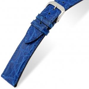 Rios Lord Horlogebandje Krokodillenleer Koningsblauw