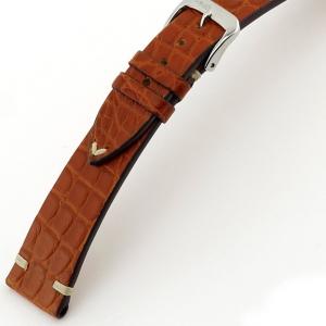 Rios Royal Horlogebandje Alligatorleer Bruin