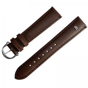 Maurice Lacroix Horlogeband met Gesp Kalfsleer Donkerbruin