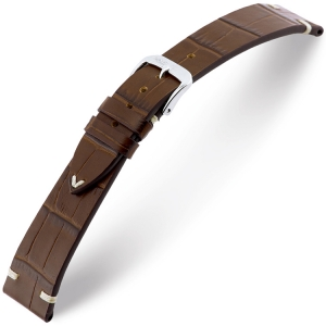 Rios Hollywood Horlogebandje Rundsleer Bruin