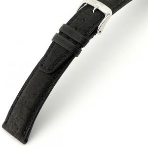 Rios Tobacco Horlogebandje Varkensleer Zwart