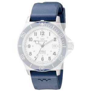 Glycine Combat Sub 3863 Horlogeband Blauw Rubber - 22mm