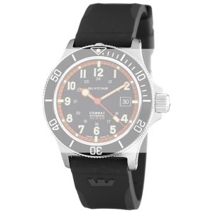 Glycine Combat Sub 3863 Horlogeband Zwart Rubber - 22mm