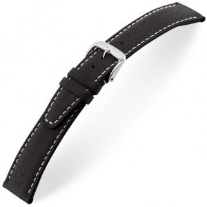 Rios Havana Horlogebandje Varkensleer Zwart