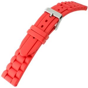Hirsch Jelly Rubber Schakels Horlogebandje Rood