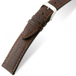Rios Orlando Alligator Horlogebandje Rundsleer Bruin