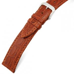 Rios Brazil Krokodil Horlogebandje Rundsleer Cognac