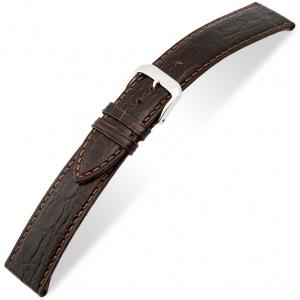 Rios Brazil Krokodil Horlogebandje Rundsleer Bruin