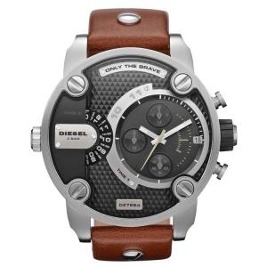 Diesel DZ7376 Horlogeband Zwart Leer