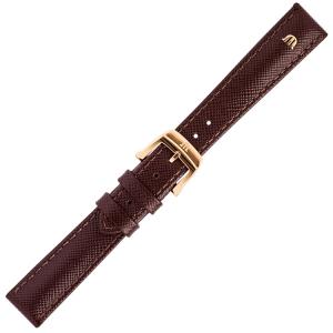 Maurice Lacroix Eliros Easychange Horlogeband Saffiano Bruin 16mm