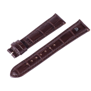 Maurice Lacroix Horlogeband Louisiana Kroko-Kalf Tabak
