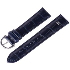 Maurice Lacroix Horlogeband met Gesp Louisiana Kroko-Kalf Blauw