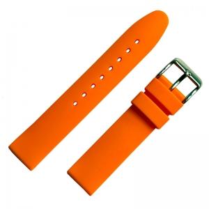 Oranje Rubberen Horlogebandje Glad 18mm