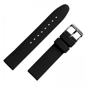 Zwart Rubberen Horlogebandje Glad 18mm