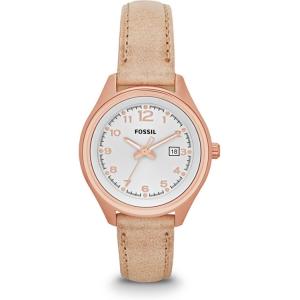 Fossil AM4501 Horlogeband Beige Leer