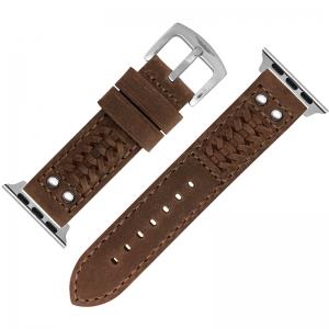 StrapWorks Woven Horlogebandje voor Apple Watch Bruin